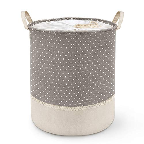 Canasta de Lavandería Para Almacenamiento, Canasta Plegable Para Ropa sucia , Con Asa y Cubierta Con Cordón, Utilizada en El Dormitorio, Baño, Juguetes y Ropa Sucia