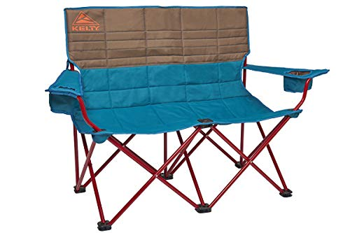 Kelty Loveseat Camping Chair Deep Lake/Fallen Rock – Folding Double Camp Chair for Festivals Camping and Beach Days  Updated 2019 Model