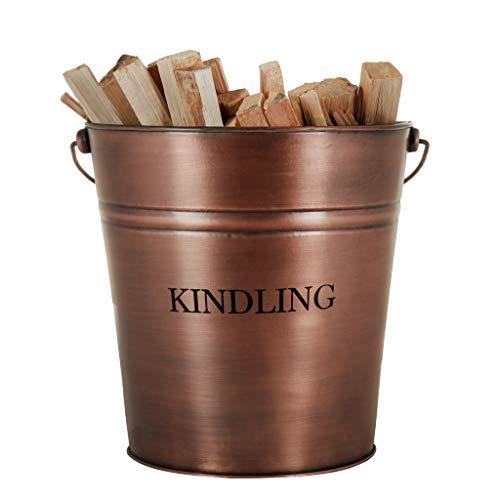 Vintage stijl 17L Fireside Kindling hout haard opslag emmer