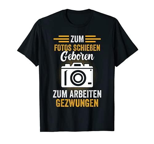 Fotógrafo aficionado con cámara digital divertida. Camiseta