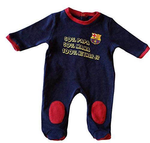 FC Barcelona - Pijama de bebé del Barça, Neymar Junior, colección oficial, azul, 24 mese