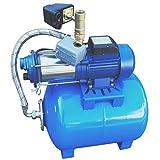 Wangkangyi Gartenpumpe 50L+1800W/100L+1300W, Pumpe Trockenlaufschutz Hauswasserwerk,...