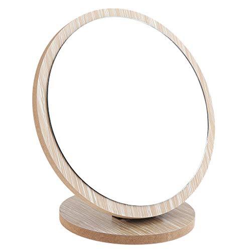 SDENSHI Miroir Maquillage Pliable Miroir Cosmétique sur Pied en Bois Miroir pour la Chambre et Voyage - 17 cm