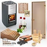Saunaausatz'BASIC WOOD.DE' HARVIA Holzofen M3 + Saunabauzubehör