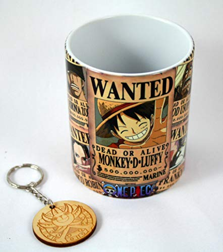 HobbyElx Taza y Llavero One Piece New World