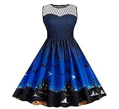 CLOOM Talla Grande Falda de Halloween Vestido de Mujer de ...