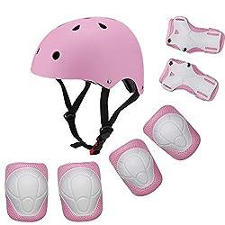 powerful Children's Bicycle Helmet Children's Helmet Adjustable Helmet for 3-8 Years Boys Girls Sports Protection…