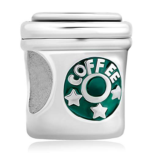 PoeticCharms 925 Sterling Silber Mode Kaffeetasse Bead Charms für Armbänder