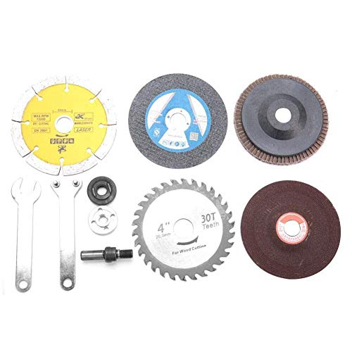 LKK-KK Cutting Disc, Electric Drill Conversion Angle Grinder Connecting Rod Cutting Disc Polishing Wheel Accessory for Rust Removal Wood Carving Craft Polishing