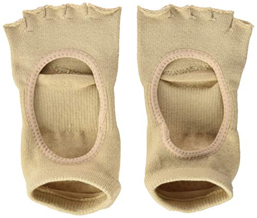 Toesox Calcetines unisex con agarre de cinco dedos, Unisex, YTOENTPLIENUDE-M, color carne, M