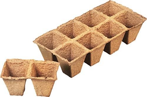 Connex FLOR79125 - Maceta Biodegradable para Invernadero