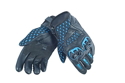 Dainese-AIR HERO UNISEX Guantes, Negro/Electric-Azul, Talla XL