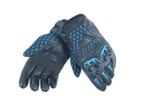 Dainese-AIR HERO UNISEX Handschuhe, Schwarz/Electric-Blau, Größe S