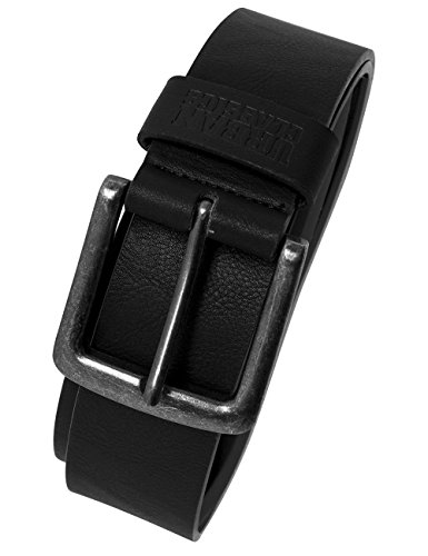 Urban Classics Leather Imitation Belt Cinturón, Negro (Black 7), XL (130 cm longitud) Unisex Adulto
