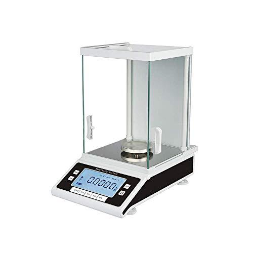QTCD Báscula de baño Digitales, 320 g / 0,0001 Lab Balance de la Escala analítica 0,1 MG Sensor de Fuerza electromagnética de Alta precisión de Cuatro núcleos de sobrecarga de la CPU fanghua
