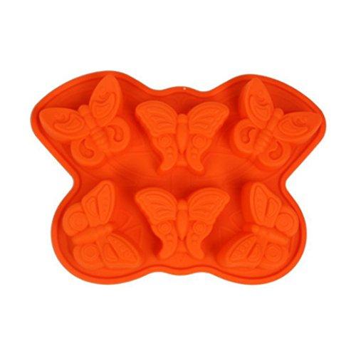 FantasyDay Stampo in Silicone per Tortiera Forma di Farfalla, 32 x 23cm Muffa da Forno per Biscotti, Cioccolato, Tortini, Cioccolato, Torte, Dolci, Muffin, Pudding - Antiaderente & Termoresistente