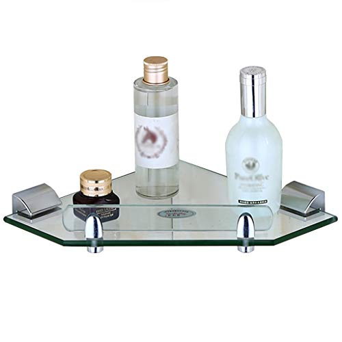 LILINPINGZWJ Badezimmer-Eckregal Rack-Glaswandregal 1-Eck-Badezimmer-Eckrahmen Aus Edelstahl Badezimmerablagen und-Regale