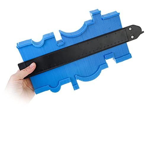De múltiples fines 10 pulgadas 25 cm contornos irregulares indicador regla de arco indicador de plástico perfil de contorno plantilla de la escala de la escala de curvatura laminado para medir esquina