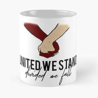 United We Stand Divided Fall All Racism Coffee Mugs Best Gift, Funny Cup