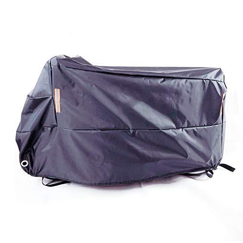 aolongwl Cubierta de la motocicleta impermeable cubierta de la motocicleta impermeable a prueba de polvo protección UV al aire libre interior moto scooter moto lluvia cubierta XXL2101mm-2200mm negro