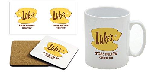 Lukes Diner – Gilmore Girls – Tasse und Untersetzer Geschenk-Set