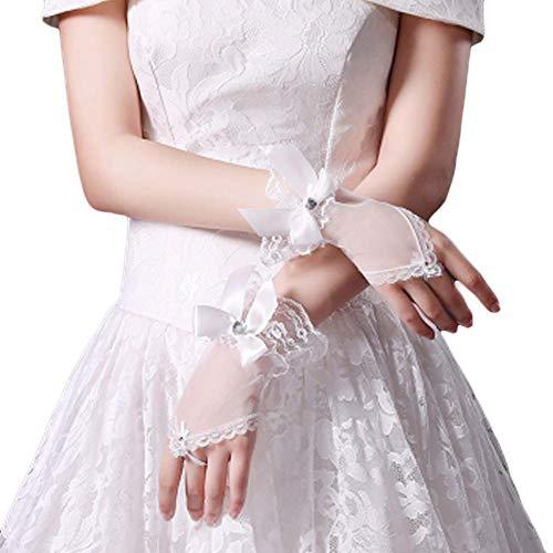 Gants de mariée mariage robes de soirée dentelle gants courts B16