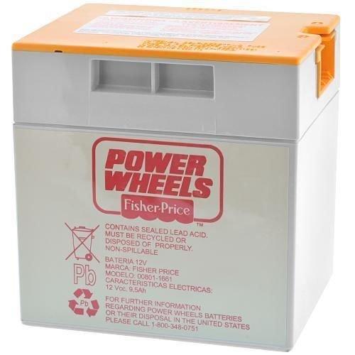 Fisher Price 00801-1661 Power Wheels Grey 12 Volt Battery Orange Top Genuine New