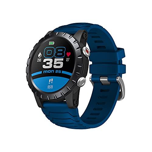 SDTYYP Zeblaze Stratos IP68 Reloj Inteligente con GPS a Prueba de Agua 1,32' Pantalla táctil a Color HD Bluetooth 5.0 Reloj Deportivo Batería de Larga Espera (Blue)