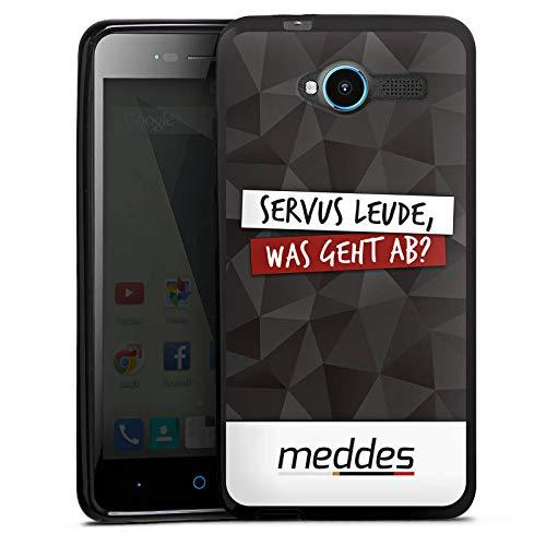DeinDesign Silikon Hülle kompatibel mit ZTE Blade L3 Case schwarz Handyhülle Meddes Youtuber YouTube