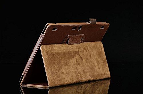 Lobwerk Tasche für Lenovo Tab 2 A10-70F 10.1 Zoll Schutz Hülle Flip Tablet Cover Hülle A10-70L (Braun) NEU