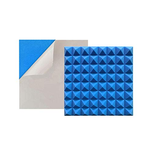 XIN CHANG LWH Paquete De 10 Paneles De Absorción Acústica, Paneles De Absorción De Sonido De Alta Densidad Reducidos para Studio KTV, Adhesivo De Papel para Tratamiento Insonorizado(Color:Azul)