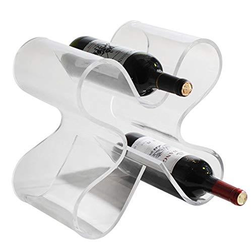 OUYA Botelleros Vino de Acero Inoxidable para 5 Botellas, Organizador de Almacenamiento con Soporte de 10 * 40 cm, estantes para Vino, Piso Independiente para decoración Moderna y hogar