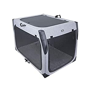 Objoy Soft Pet Crate for Dogs Cats Rabbits Folding Carrier for Travel Outdoor Indoor (XXL)
