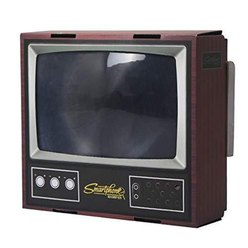 MMLC Retro TV Bildschirmlupe, Handy-Bildschirmverstärker, 3D-Videoverstärker, Retro TV HD-Projektor, Videoverstärker vergrößert Expander Stand für Video TV Show (Mehrfarbig)