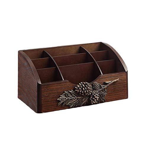 Boîte de Rangement créative en Bois for cosmétiques Boîte de Finition de Bureau Support de Rangement for télécommande for Soins de la Peau FANJIANI