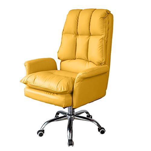 WANGJ-Chaise Office Chair for Home,Leather Executive Desk Chair with Armrest High Back Ergonomic Computer Chair with Rocking Function Swivel Home Work Chair,Home/Office Furniture