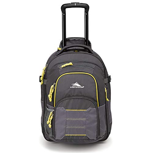 High Sierra Ultimate Access 2.0 Carry-on Wheeled Backpack, Mercury/Charcoal/Yell-O