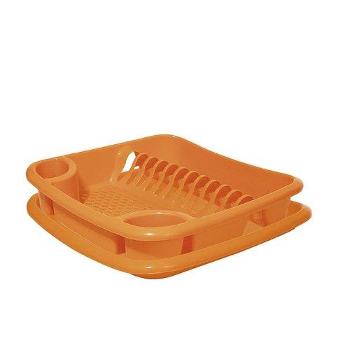 Juypal Escurreplatos, Naranja, 38,5 x 38,5 x 8,5 cm