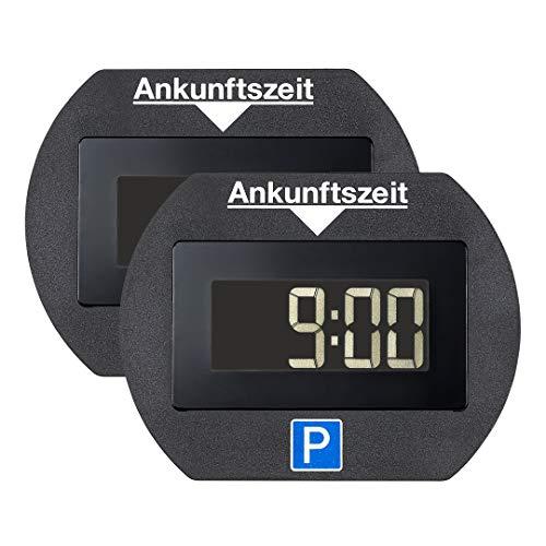 2x Park Lite elektronische Parkscheibe digitale Parkuhr schwarz mit offizieller Zulassung vom KBA - 2 Stück Spar Set
