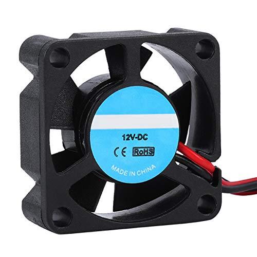 Ventilador de refrigeración de la impresora, 2PCS 12V Ventilador portátil del disipador de calor de la impresora 3D, Intercambiador de calor de la impresora 3D de alta velocidad 10000RPM 5.2CFM