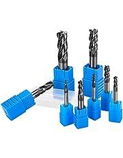 Fresa de 8 piezas, 4 flautas de metal duro, fresadora fresadora fresadora de 2 – 12 mm de diámetro, herramienta CNC
