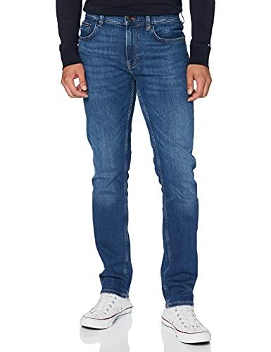 Tommy Hilfiger Herren Straight Denton STR IND Jeans, Hobart Indigo, 32W / 34L
