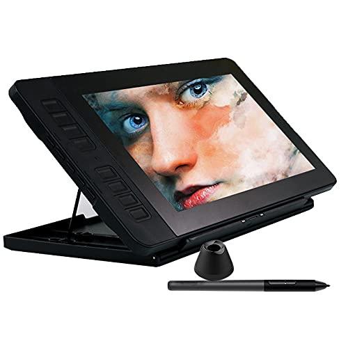 Xyfw Monitor De Tableta De Dibujo IPS HD Pantalla De Lápiz Gráfico con 8192 Niveles Lápiz Sin Batería con Soporte Ajustable