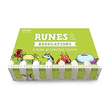 TeeTurtle Runes & Regulations Card Game - from The Creators of Unstable Unicorns - A Strategic Card Game & Party Game for Adults & Teens Green