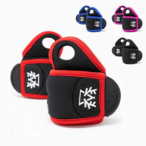 Outdeers Gewichtsmanschette Handgelenk Set in 4 Farben, 0,5kg - 1kg, Hoher Neopren, Universal Handgewicht, Ankle Weight, Gelenkgewicht für Handgelenk (rot | schwarz, 0,5 kg)