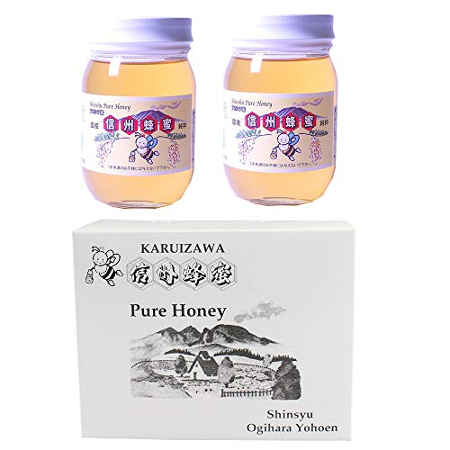 国産アカシアはちみつ 瓶入り 500g×2瓶 ギフト箱入 荻原養蜂園 香りやさしく、さっぱりとした味が人気の蜂蜜