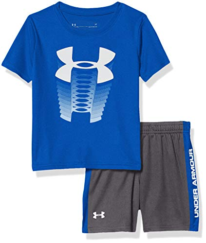 Under Armour Boys' Toddler Ua Muscle Tank and Short Set, Versa Blue s20, 2T