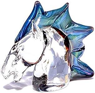 YourMurano, Escultura de cristal de Murano de cabeza de caballo, estatua de cristal para decoración del hogar, marca de origen, Orfeo