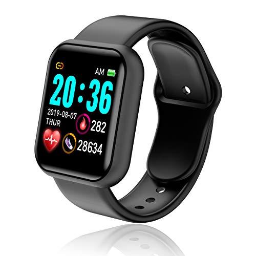 Smartwatch, Reloj Inteligente Impermeable IP67 con Monitor de Sueño Pulsómetros Cronómetros Contador de Caloría, Pulsera de Actividad Inteligente para Hombre Mujer con iOS y Android