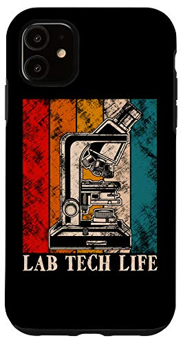 iPhone 11 Vintage Biologist Gift Microscope Lab Tech Life Science Case